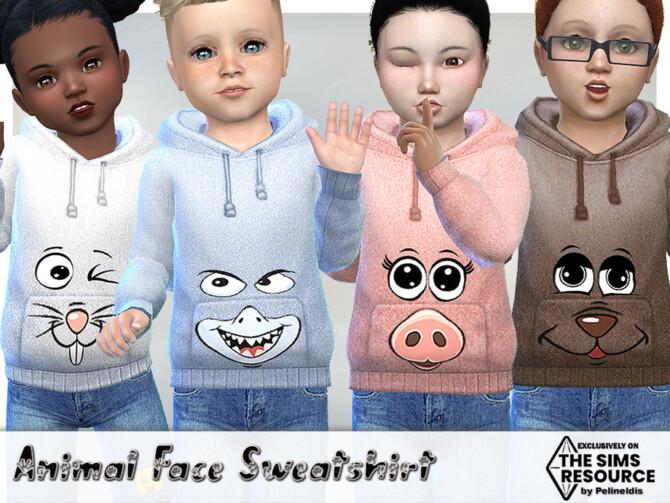 Sims 4 Animal Face Sweatshirt by Pelineldis at TSR