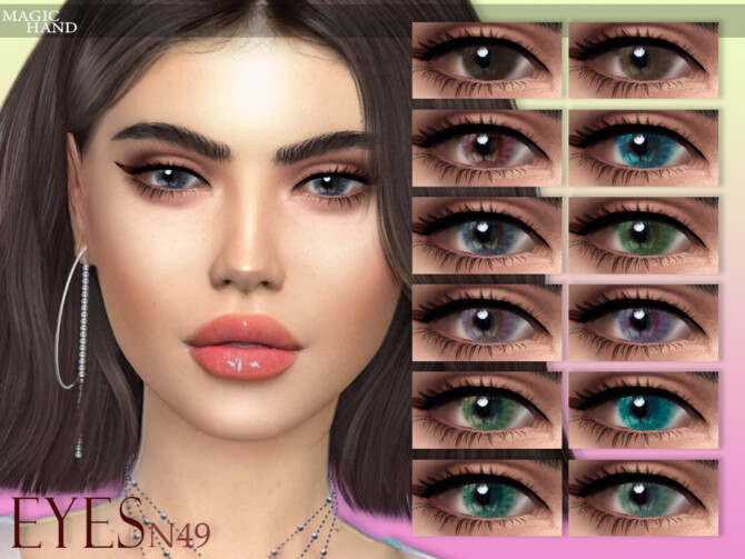 Sims 4 Eyes N49 by MagicHand at TSR