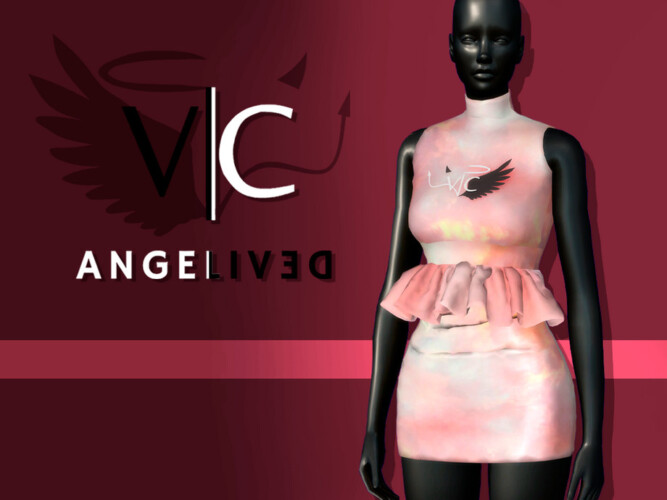 Angelived Collection Dress I By Viy Sims