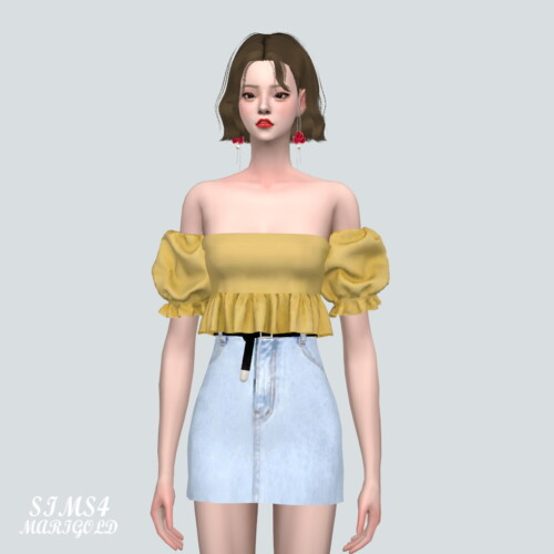 Puff Sleeves Os Blouse V2