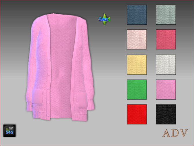 Sims 4 Cardigans, tops and pants for mother and daughter at Arte Della Vita