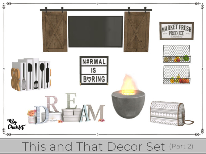 This And That Decor Set (part 2) By Chicklet