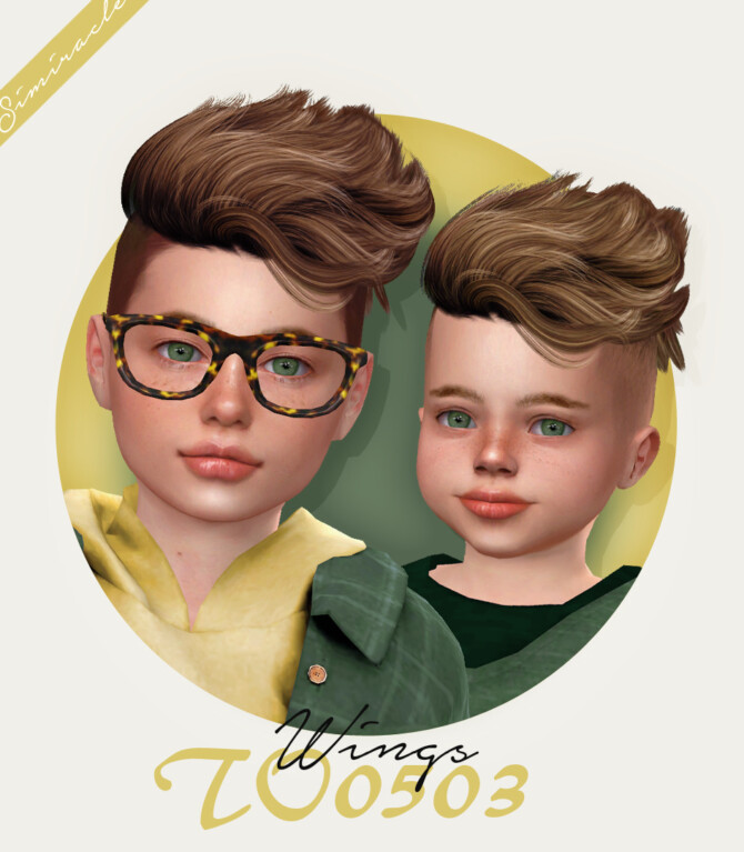 Sims 4 Wings TO0503 hair for kids & toddlers at Simiracle