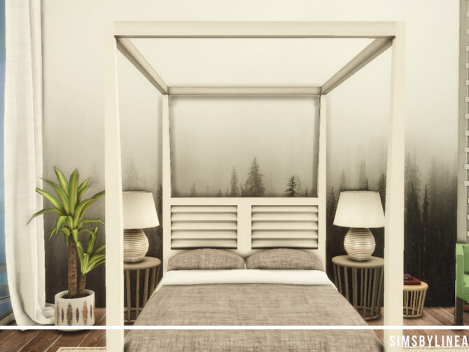 Sims 4 Contemporary Master Bedroom by SIMSBYLINEA at TSR