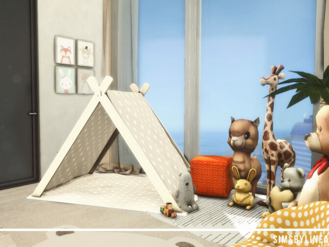 Sims 4 Contemporary Toddler Room by SIMSBYLINEA at TSR