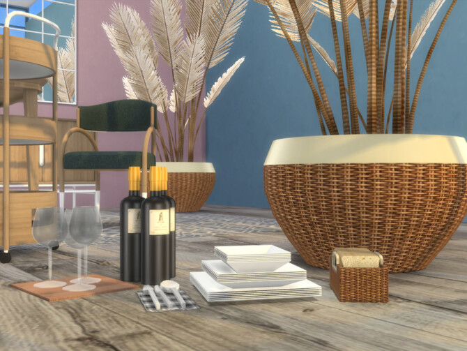 Sims 4 Bismarck Dining Room Extra Materials by Onyxium at TSR