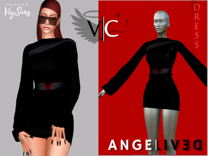 Angelived Collection Dress Viii By Viy Sims