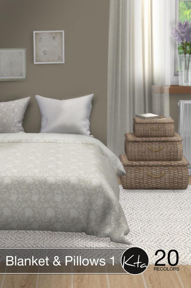 Sims 4 Blanket & Pillows 1 at Ktasims