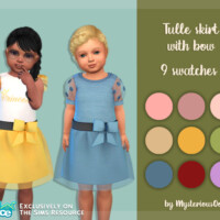 Tulle Skirt With Bow By Mysteriousoo