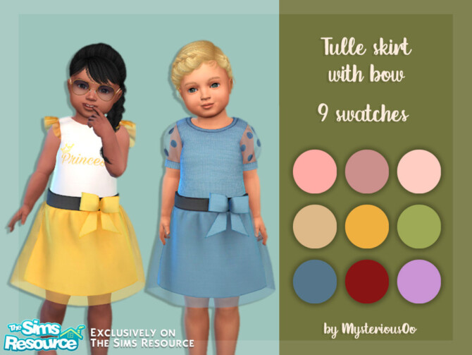 Sims 4 Tulle skirt with bow by MysteriousOo at TSR