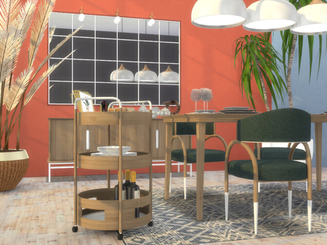 Sims 4 Gent Dining Room by Onyxium at TSR
