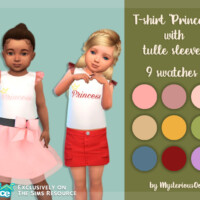 T-shirt Princess With Tulle Sleeves By Mysteriousoo