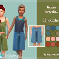 Denim Breeches By Mysteriousoo