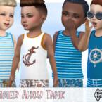 Boys Summer Ahoy Tank Top By Pelineldis