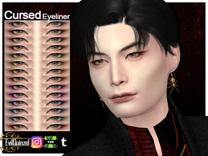 Sims 4 Cursed Eyeliner by EvilQuinzel at TSR