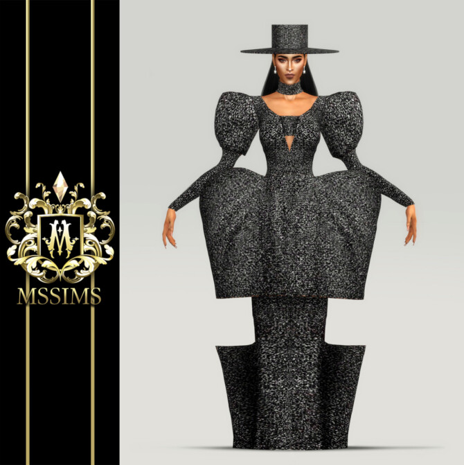 Sims 4 FALL 2020 GOWN & HAT AND STREETS POSE at MSSIMS