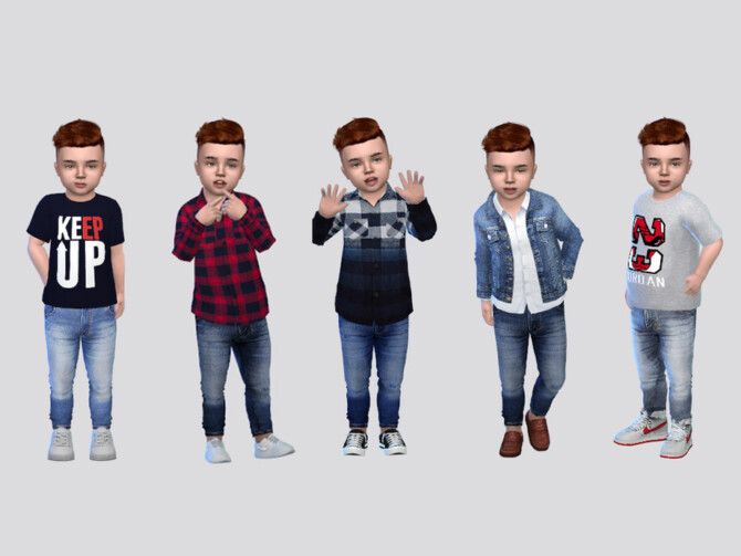 Sims 4 Zamyr Jeans Toddler by McLayneSims at TSR
