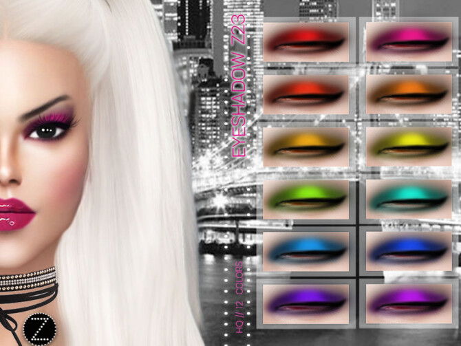 Sims 4 EYESHADOW Z23 by ZENX at TSR