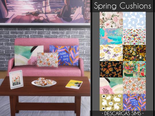 Sims 4 Spring Cushions at Descargas Sims