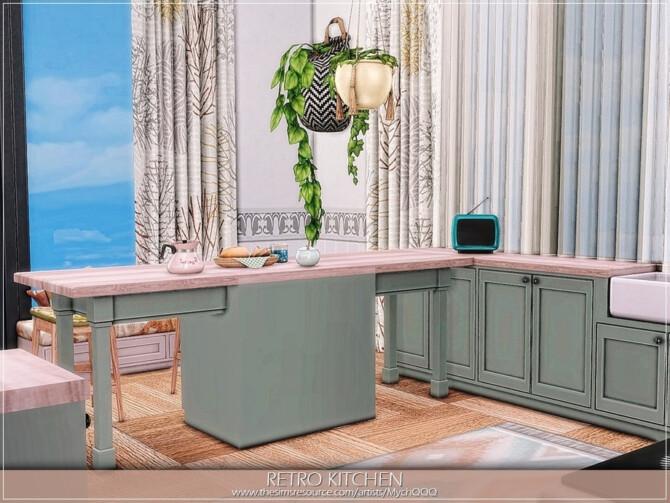Sims 4 Retro Kitchen by MychQQQ at TSR