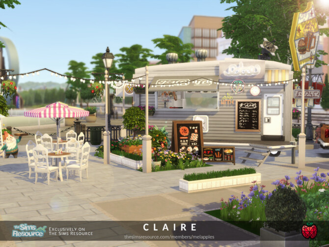 Sims 4 Claire restaurant by melapples at TSR