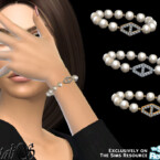 Diamond Hexagon Pearl Bracelet By Natalis