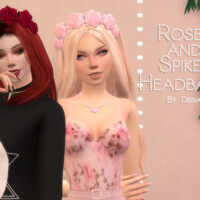 Roses And Spikes Headband By Dissia