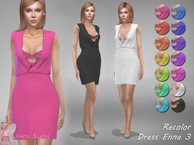 Dress Enna 3 Recolor By Jaru Sims