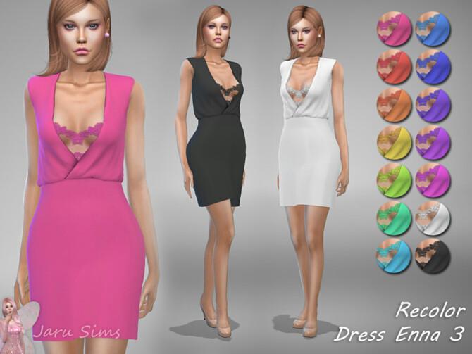 Sims 4 Dress Enna 3 RECOLOR by Jaru Sims at TSR