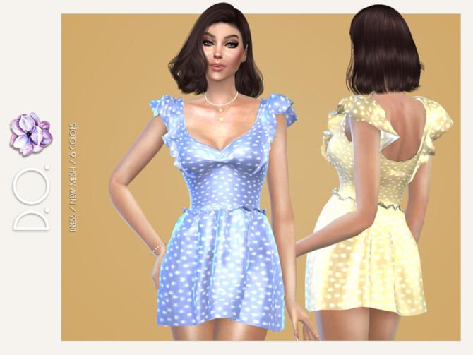 Sims 4 Dress 112 by D.O.Lilac at TSR