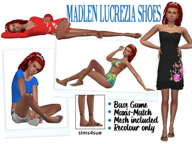 Sims 4 MADLEN'S LUCREZIA SHOES at Sims4Sue