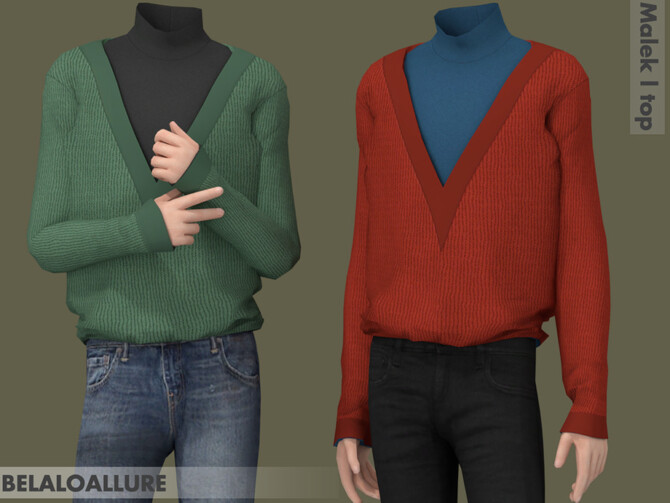 Sims 4 Malek top by belal1997 at TSR