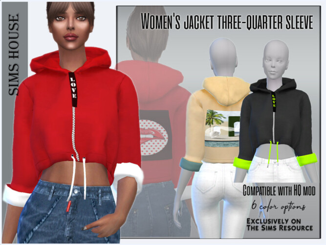 Women's Jacket Three-quarter Sleeve By Sims House