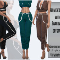 Women's Pants With Swarovski Crystals By Sims House