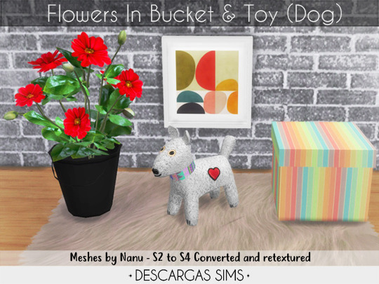 Sims 4 Flowers and Toy at Descargas Sims
