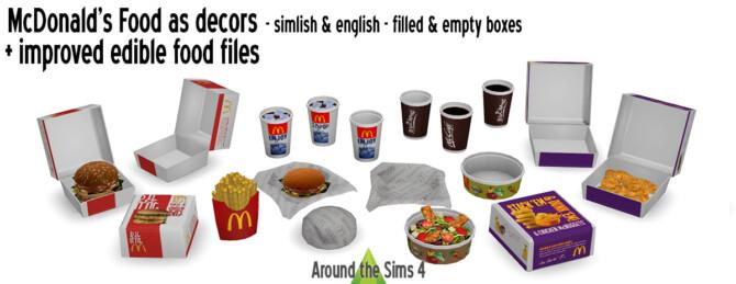 Mcdonald's Improved Food Files & Decorative Versions