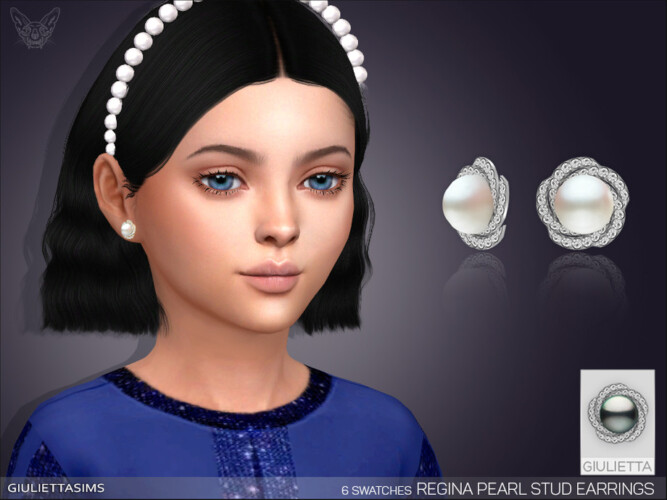 Regina Pearl Earrings For Kids By Feyona