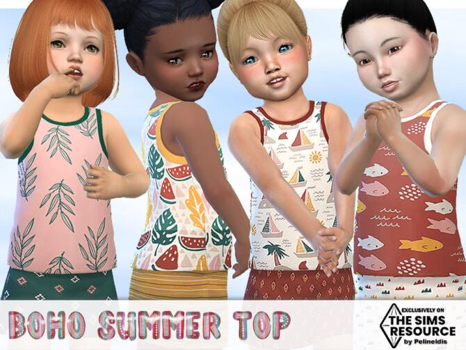 Sims 4 Boho Summer Top by Pelineldis at TSR
