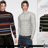 Turtleneck Sweater 01 For Male Sims By Remaron