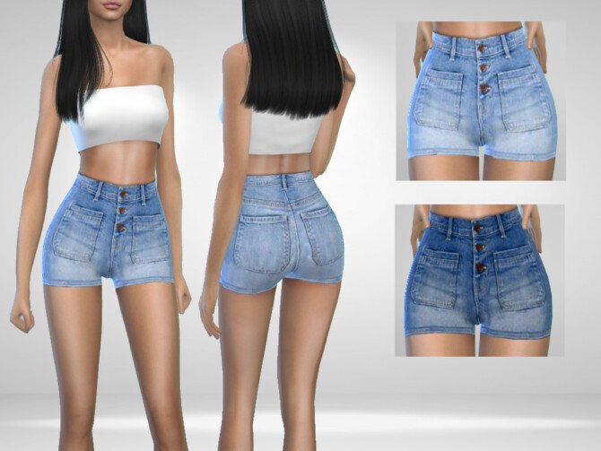 Sims 4 Michelle Shorts by Puresim at TSR