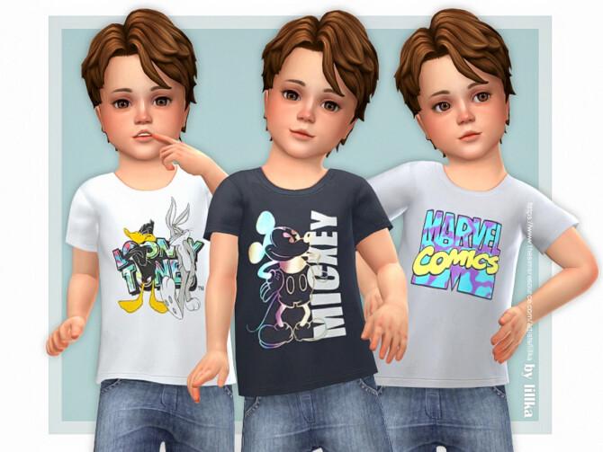 Sims 4 Jonas T Shirt by lillka at TSR