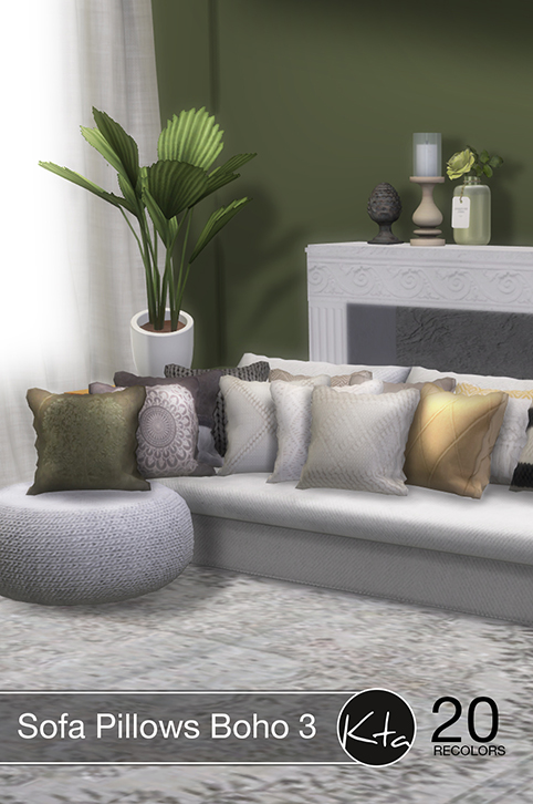 Sims 4 Sofa Pillows Boho 3 at Ktasims