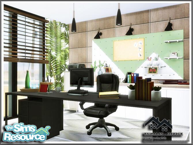 Sims 4 EUPALIN Office by marychabb at TSR