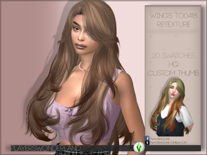 Wings To0418 Hair Retexture By Playerswonderland