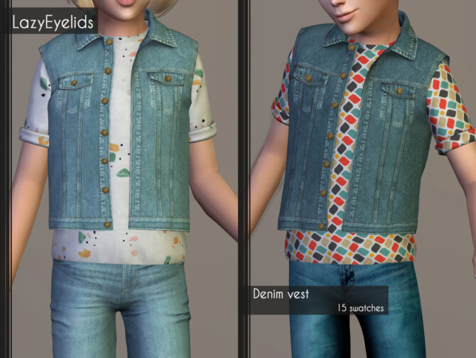 Sims 4 Clothes set for kids at LazyEyelids