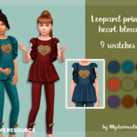 Leopard Printed Heart Blouse By Mysteriousoo