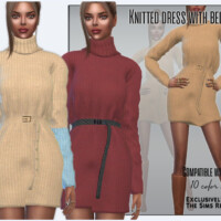Knitted Dress With Belt By Sims House