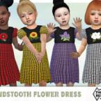 Houndstooth Flower Dress By Pelineldis