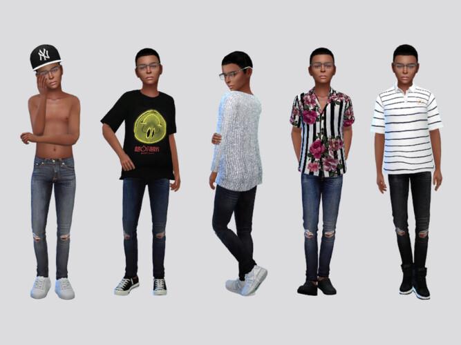 Lil' Rocker Denim Jeans Boys By Mclaynesims