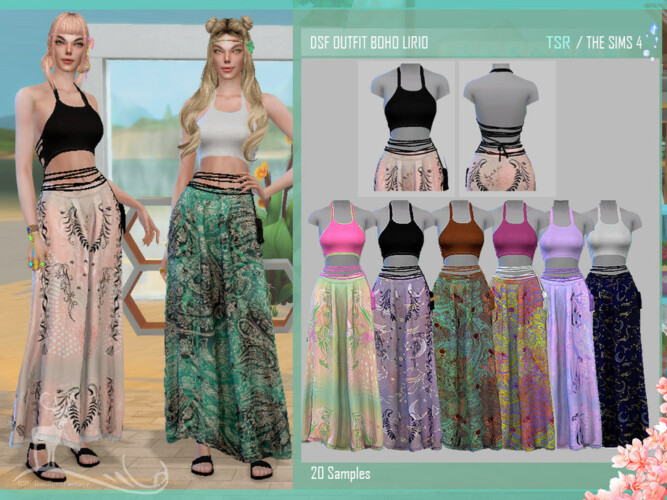 Dsf Outfit Boho Lirio By Dansimsfantasy